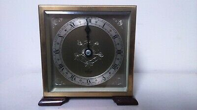 1960 Vintage Small Elliott 8 Day Mantel Clock 11 Jewel French Escapement