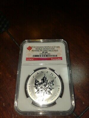 2014 Canada Maple Leaf *1 OZ Silver *NGC PF 69*Reverse Proof *Early Releases