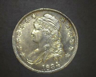 1834 Ld* Sl* Capped Bust Half-Dollar O#119 Cleaned  Choice Uncirculated  ~180234