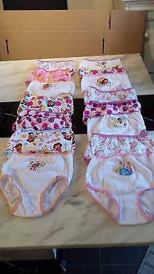 New Carter's 15 Pairs of Girls Cotton Briefs - Age 2-3 Disney/Character Theme