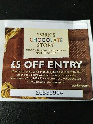 York Chocolate Story Voucher Coupon