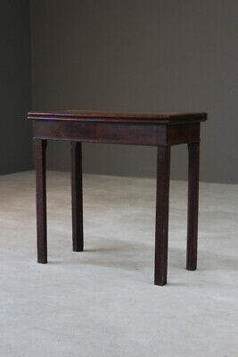 Antique George III Georgian Mahogany Tea Side Occasional Turn Over Table