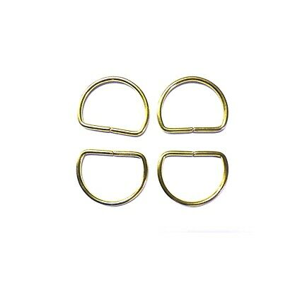 Metal D Rings Gold Buckles for Webbing Strap Tape 40 mm