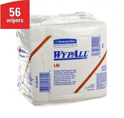 Kimberly Clark WYPALL CLOTHS L40 Wipers Pack of 56 White sheets Dust fluid Wipes