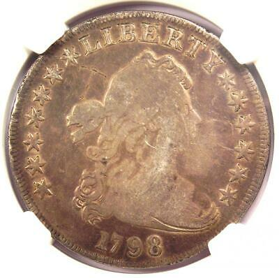 1798 Draped Bust Silver Dollar $1 Coin - Certified NGC Genuine - VG Details