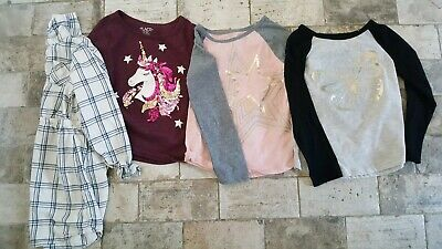 Lot 4 The Childrens Place  Gap Girls Size Small 5/6 Shirts L/S unicorn butterfly