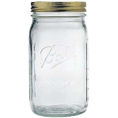 Ball Wide Mouth Canning Jar Quart 014400670008