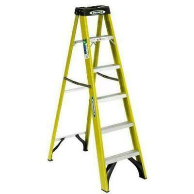 Werner 6 FT Fiberglass Step Ladder Safety Non Slip Type II Duty Rating 225 lbs