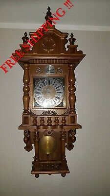 0293-German Kieninger Westminster chime wall clock