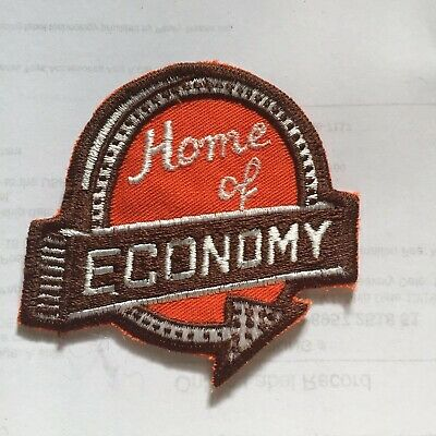 Vintage Home Of Economy Embroidered Patch Hotel? Service? N7
