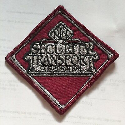 Vintage Security Transport Corporation Embroidered Collector Patch N6