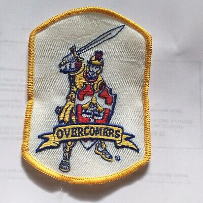 Vintage Overcombers Shoulder Embroidered Collector Patch Knights White N2
