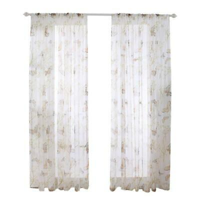 Butterfly Printed Home Blackout Curtains Living Room Bedroom Windows Drapes #gib