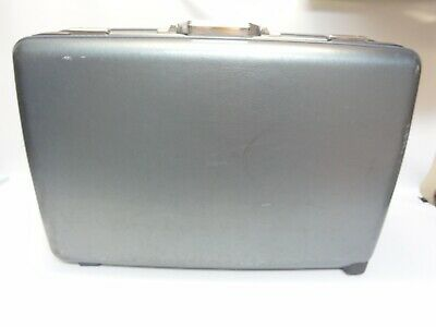American Tourister Large Blue/Gray Luggage on Wheels Pull Handle Silver 30x20x9