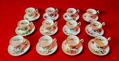 "ROYAL ALBERT Miniature "" Flower Of The Month Series ""  Tasse & Soucoupe Dinette"