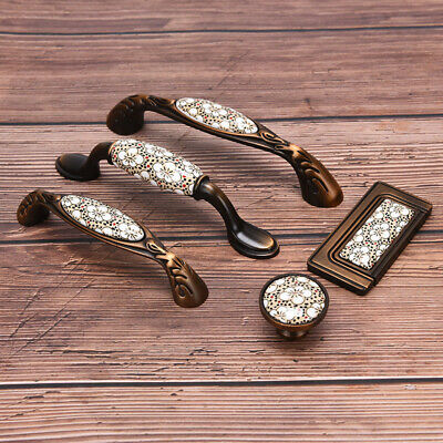 Antique Bronze Ceramic Handles Drawer Wardrobe Door Handles Furniture Handle BH