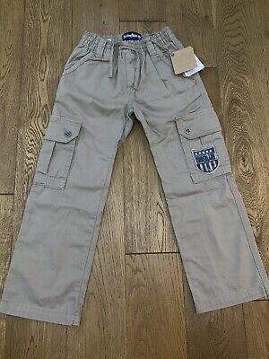 Bnwt Boys Timberland Earthkeepers Beige Elasticated Waist Trousers Age 7-8 Years
