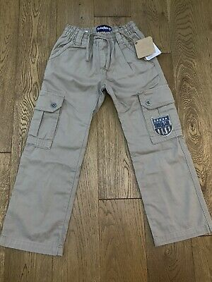Bnwt Timberland Earthkeepers Elasticated Waist Beige Trousers Age 5-6 Years