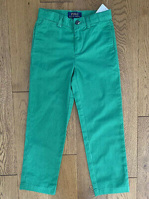 Bnwt Boys Polo Ralph Lauren Green Suffield Pant Trousers Chinos Size 5-6 Years