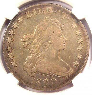 1800 Draped Bust Silver Dollar $1 Coin (BB-194, Dotted Date) - NGC VF Details
