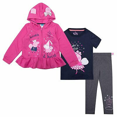 Peppa Pig Toddler Girls Hoodie Set, Multi-Color, 2T