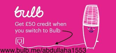 £50 credit when you switch to BULB (no contract) NO Need To Buy.
