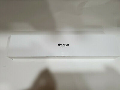 NEW Apple Watch Series 3 38mm Silver Aluminum Case with White Sport Band GPS