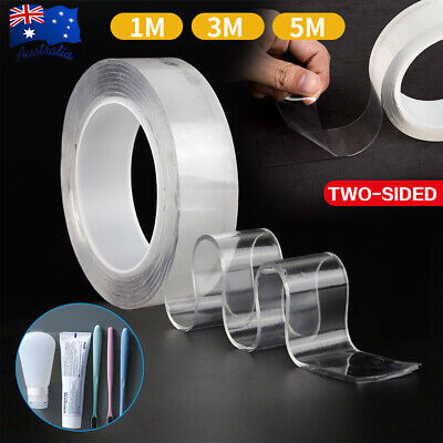 Multi-Function Nano Magic Tape Transparent Reusable Traceless Fixed Double Side