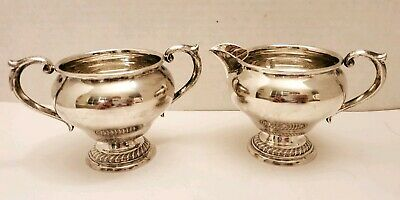 Vintage~Alvin~Sterling Silver~ Creamer and Sugar Bowl~from the 1940's S239 *read