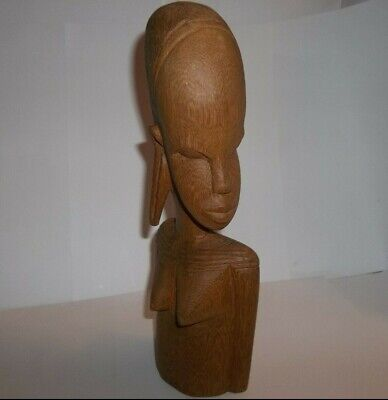 "10"" Vintage African Wood Carved Nude WomanFigure / Sculpture"