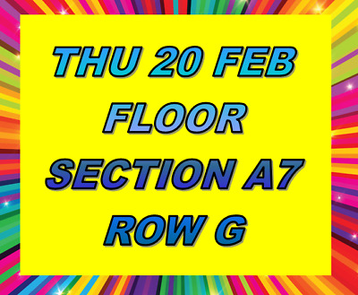 2 Queen & Adam Lambert Melbourne Tickets - Thursday 20 February - Aami Park