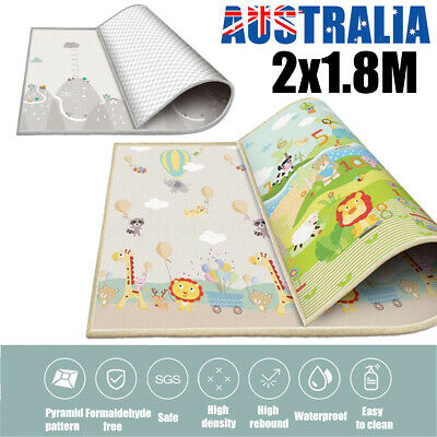 200x180cm Crawling Thick Play  Game Rug Children Baby Carpet Floorcover
