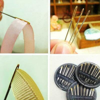 Self Threader Threading Sewing Needles Hand Sewing SET Embroider P7H3 H6N0