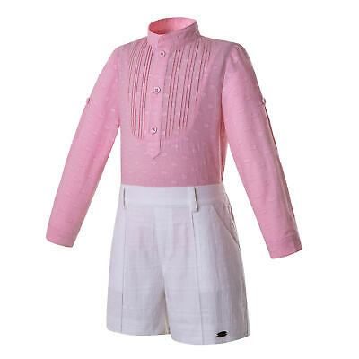Spanish Boys Gentleman Outfits Shirt Top Shorts Set Party Suit Formal Clothes