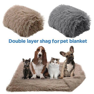 Extra Large Pet Dog Cat Soft Blanket Cosy Warm Puppy Fluffy Bed Mat Cushion S-L