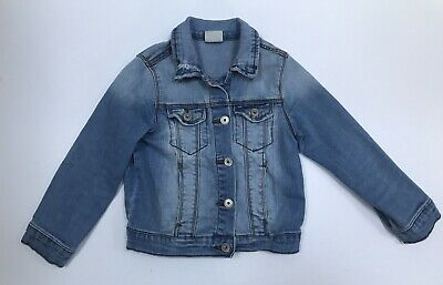Zara Girls Denim Jacket light blue Size Age 5 Years