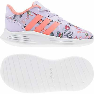 ADIDAS INFANTS LITE Racer 2.0 Doodle Print Trainers (Purple