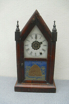 Rare beehive steeple clock by Ansonia CT USA for restoration gothic chime clock