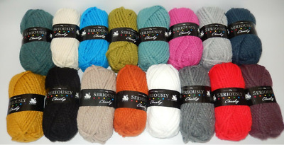 BEST BUY - Cygnet Seriously and Mythically Chunky Wool 100G - 2 Balls for £5.20