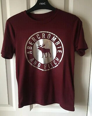 Abercrombie & Fitch Boys Maroon Tshirt Age 9-10 Years. New