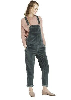 Hatch Maternity Women's THE CORD OVERALL Pine Size 3 (LRG/12) NEW