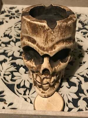 Skull Ashtray, Candle Holder Latex Rubber Mould, to make Gothic Ornament Hobby