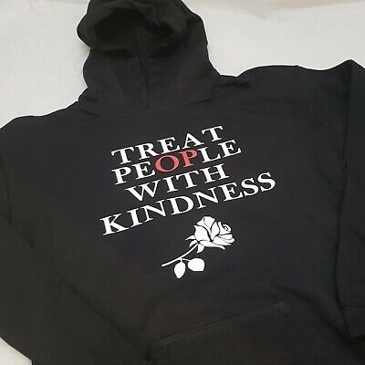 Treat People with Kindness Hoodie Age 5-6 to Adult XXL NEW Black