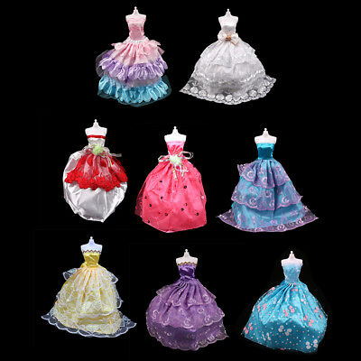 Mix Handmade Doll Dress Doll Bridal Wedding Party Princess Gown Clothes New