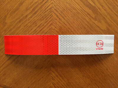 Reflective Safety Tape Red & White, DOT C-2. Safety Signs Traffic Control