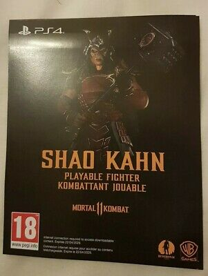 Mortal Kombat 11 Shao Kahn Download Code (PS4)