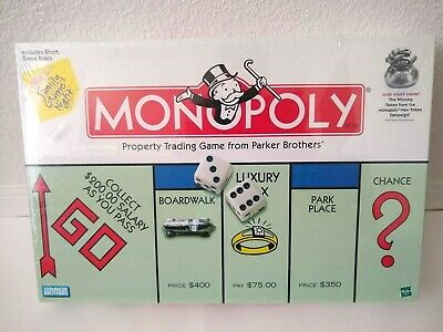 New Hasbro Monopoly Property Trading Board Game From Parker Brothers