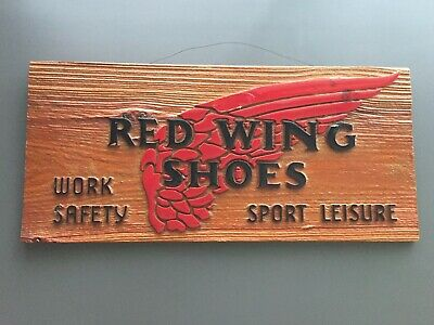 Rare Vintage Red Wing Shoes Wooden Sign