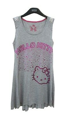Marks & Spencer Hello Kitty Grey Long T-Shirt Top or Dress Age 11