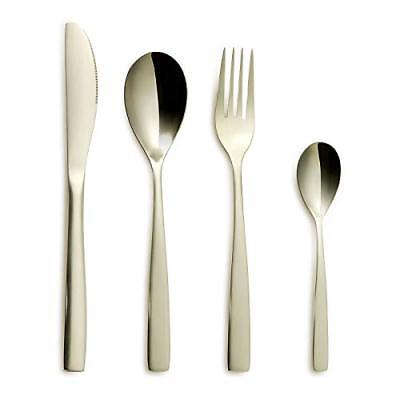 Gourmet Cutlery – 4-teiliges Stainless Steel Set without Rust Dinner for 1 Via